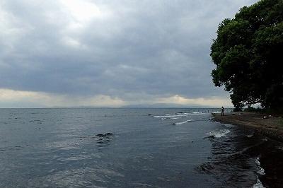 海にしか見えない…。