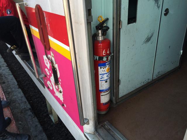 消火器は日本製のものそのままだ