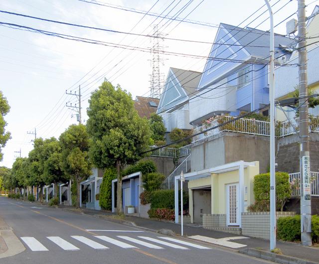 近づいて、住宅地の中を見回すと、こんな。こういう街だったのかー。