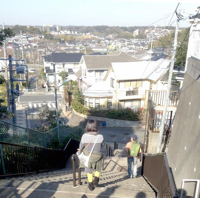 このような階段や坂をいったりきたりした。