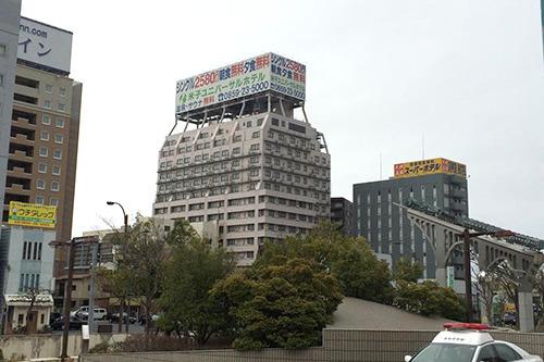 鳥取県で一番大きい米子ユニバーサルホテル(55m)