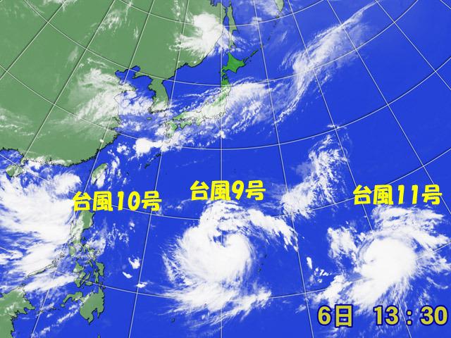 台風が3つ発生。北上する気配をプンプン漂わせている。