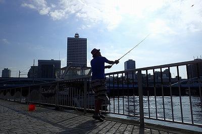 地元の釣り人もちらほら。スズキ釣りではよく知られたポイントなのだとか。