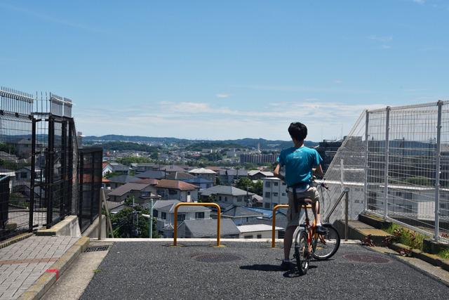 サイクリストも思わず立ち止まる絶景。晴れた日には富士山も見渡せ、多くの浮世絵の画題ともなった場所だそう