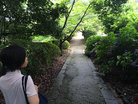 最後は長岳寺というお寺へ。庭が広い。