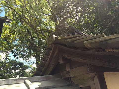 安達さんが言うには興福寺の瓦にウド鈴木がいるという。これだ。なるほど、あんまり似ていないな……(珍しさをよくわかっていない)