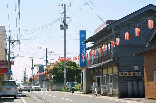 本町と呼ばれる町の中心地。明日はお祭り