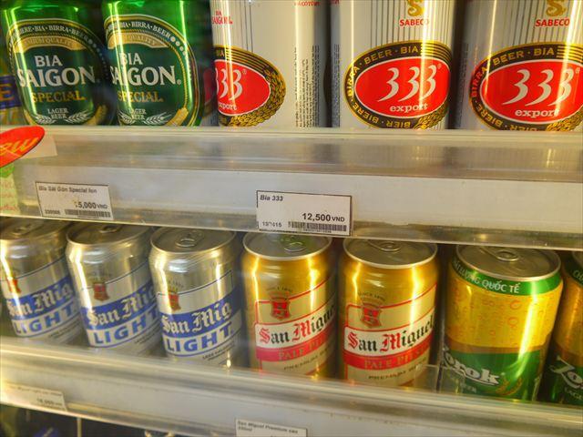 東南アジアで最もビールが安い国だけあって缶ビールは70円。