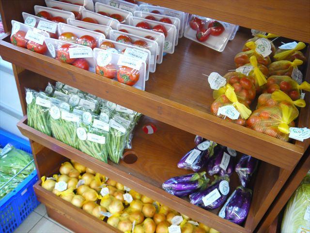 有機無農薬で栽培された野菜など。