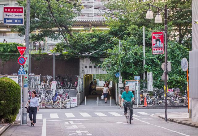 板橋駅ホーム下の歩行者用横断通路は、どうやらかつて谷端川が流れていた場所のようです。
