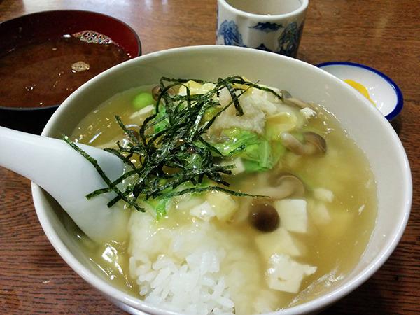 豆腐と湯葉と枝豆のあんかけ丼、美濃姫丼。
