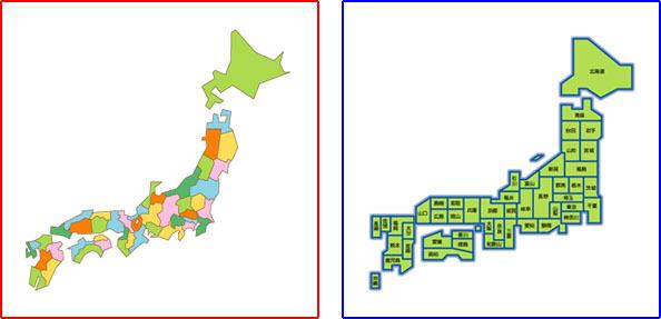 例えば、この二つの地図を比べると