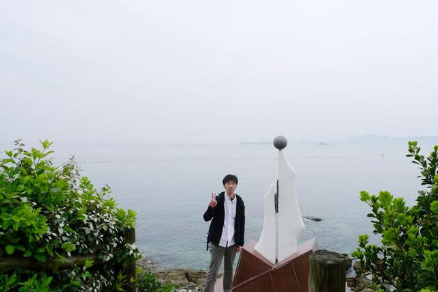 そしてこれが、切り離された北松浦半島にある日本本土最西端の神崎鼻。さらば