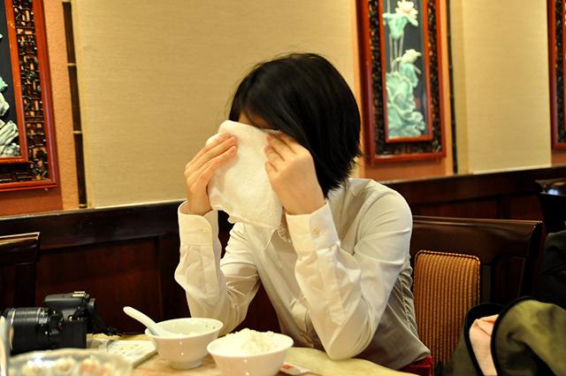 久しぶりに食事をして汗かきました