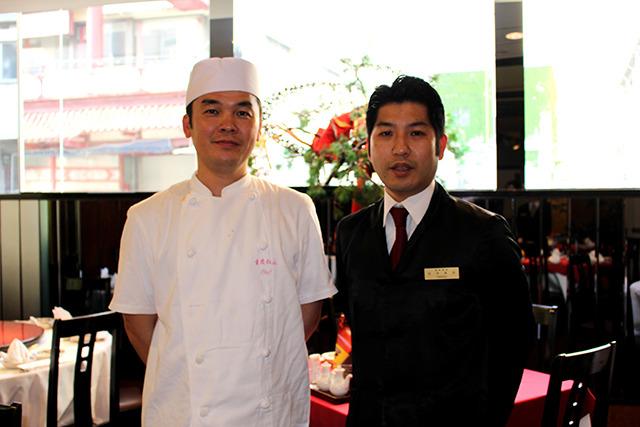 お話を伺ったのは料理長の鈴木さん(左)と支配人の松本さん