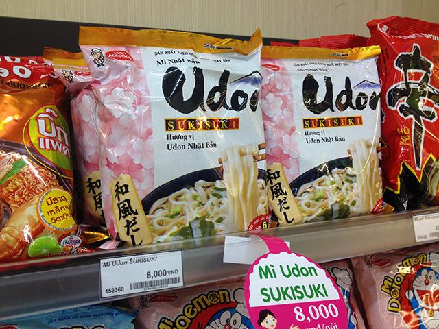 エースコック・ベトナムの人気商品、Udon。45円くらい。私も好き。
