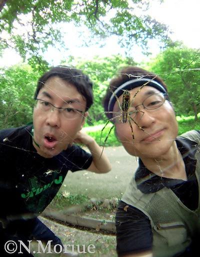 クモにつかまった!みたいな表情をしてみました