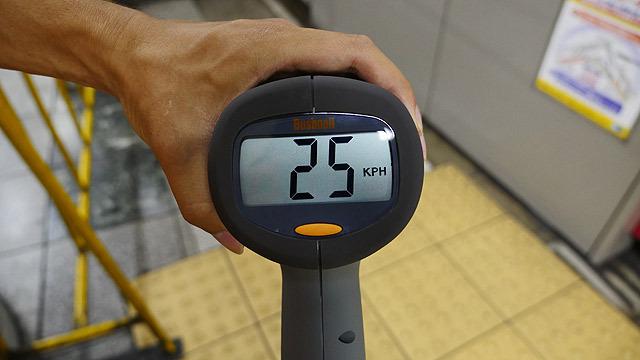 時速25km