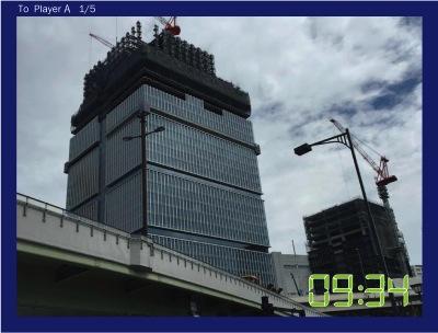 建設中の東京ガーデンテラスを送信!