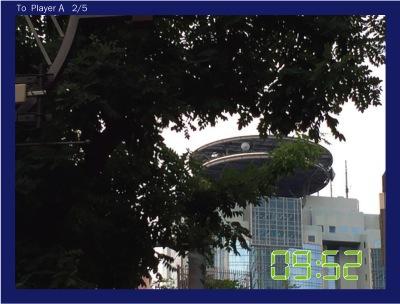 さらに赤坂TBSを送る。TBSの文字を木で隠したよ。
