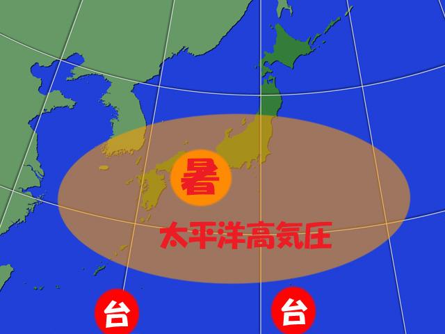 今週後半は太平洋高気圧が強まって、暑くなる。