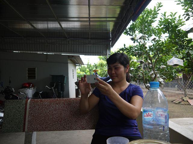 ミンさんに途中で写真を撮られていた。facebookページに載せるらしい、現代人~!