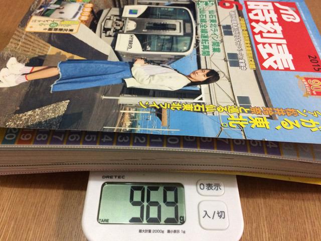 鉄道好きの、SKE48松井玲奈が表紙のJTB時刻表6月号969グラム