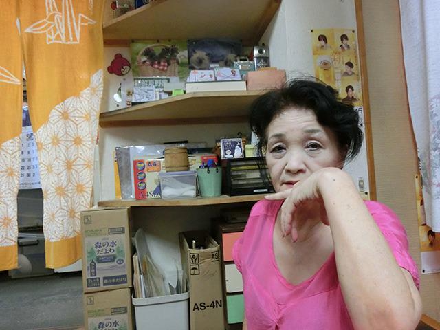 アイスを作ってくれた従業員のひとり、渡辺愛子さん