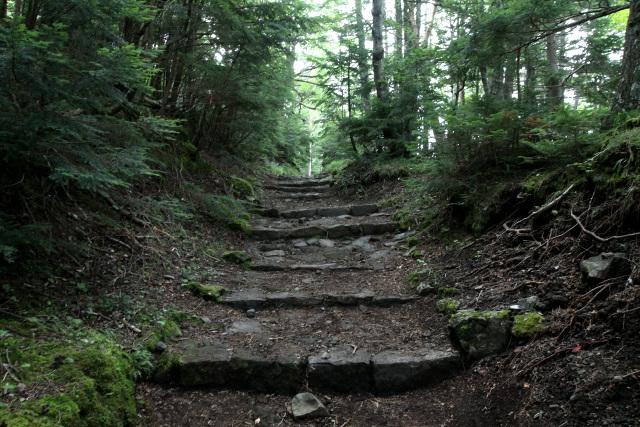 石段を登って四合目へ