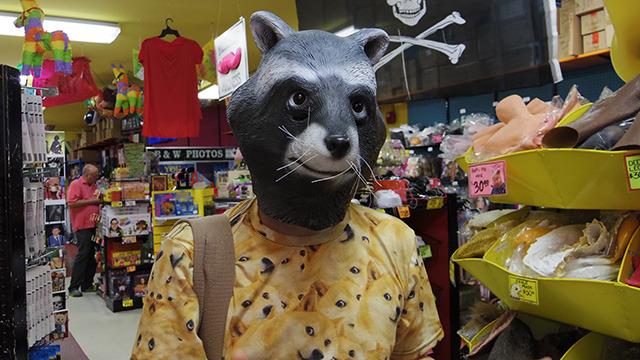 新製品のアライグママスク