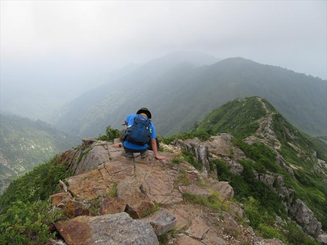 下山の時に撮った剣ヶ峰