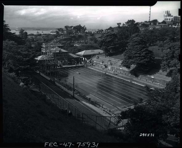 横浜市史資料室で見つけた、かつての姿(撮影年不明) 横浜市資料室提供・米国国立公文書館所蔵