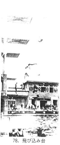 飛び込み台は事故が起こり姿を消してしまった 『ペリー来航~ 横浜元町一四〇年史』より