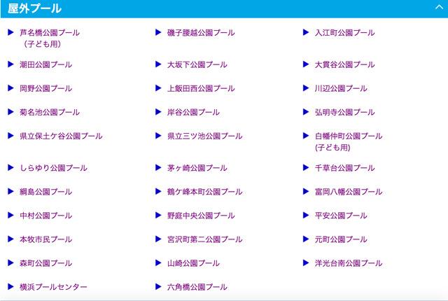 市内30ヶ所のプールにアンケートを敢行(横浜市体育協会ホームページより)