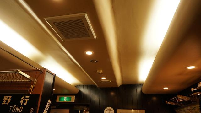 新幹線「ふう」の天井