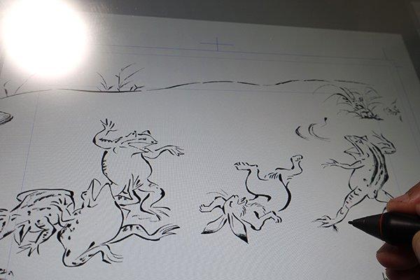「鳥獣戯画」をデジタル模写