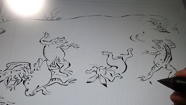 「鳥獣戯画」風のイラストを身につけたい!