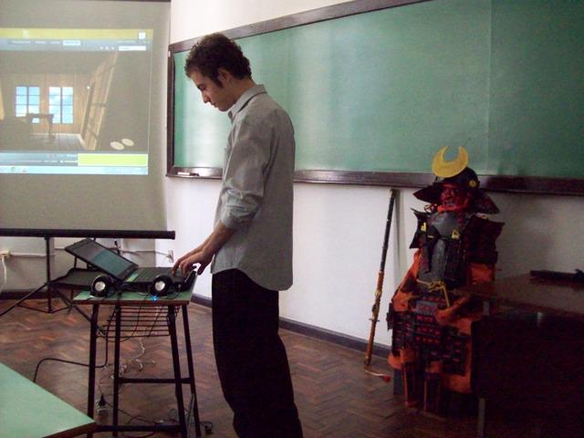 ブラジル連邦大学の学生に向け、安土桃山時代の研究について講義。
