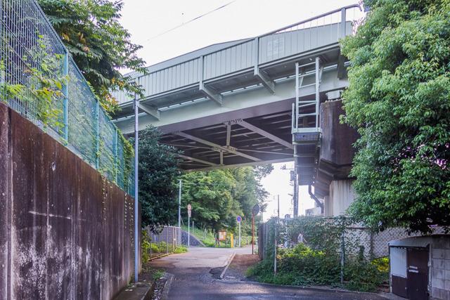 上の地図だと水路が見えるが、橋の下で暗渠になっている。