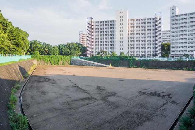 一方、行田のほうは無線塔は残っていない。が、すてきな団地と調節池がある。甲乙付けがたい。どっちもいいぞ。