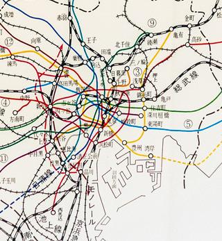「東京地下鉄道東西線建設史 (1978年)」には当時計画されていた地下鉄網が載ってたりして、すごく楽しい。