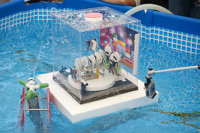 水中モーターを使っているけど、上にダンスステージがあるから(ヒゲライブ!(わわわ))