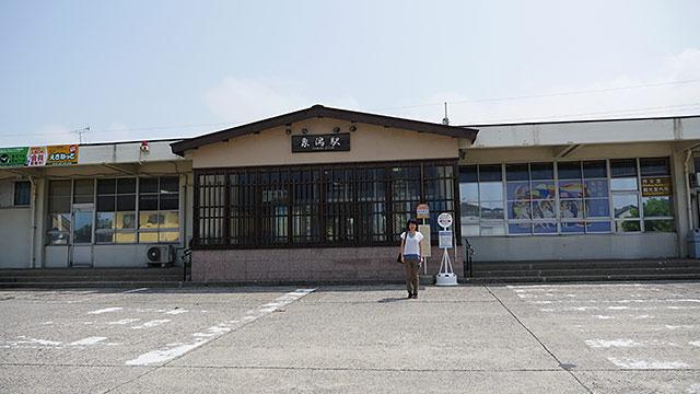 改札が一つのシンプルな駅だけど観光案内所がある。自転車も借りられる(1日500円)。