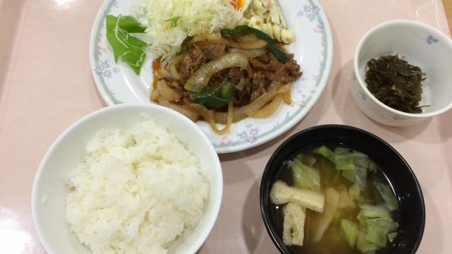 Aランチ(牛肉炒め定食)