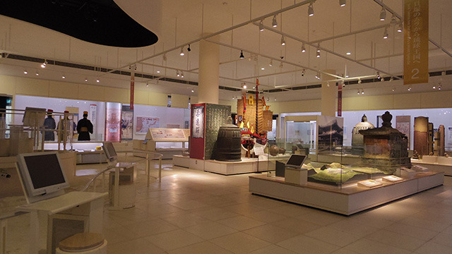 沖縄県立博物館の常設展示室