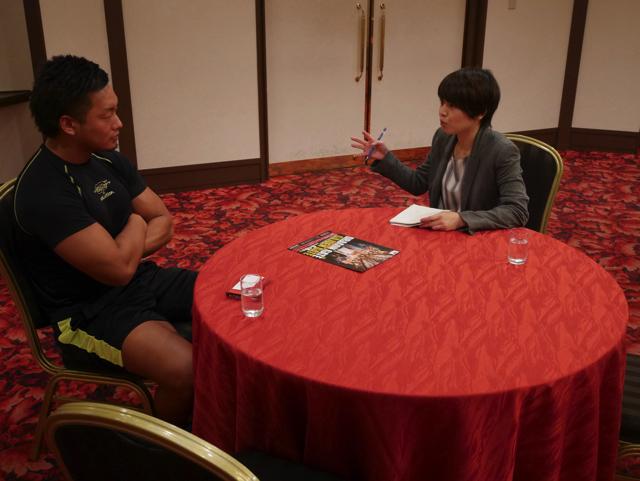 目黒雅叙園で選手にインタビューすると、すごく出来るインタビュアー感が出る