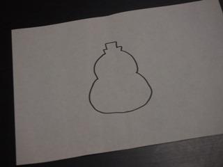 瓢箪の絵を描いた。