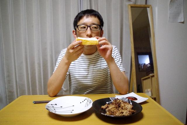 食パンに敬意を表して晩御飯にした