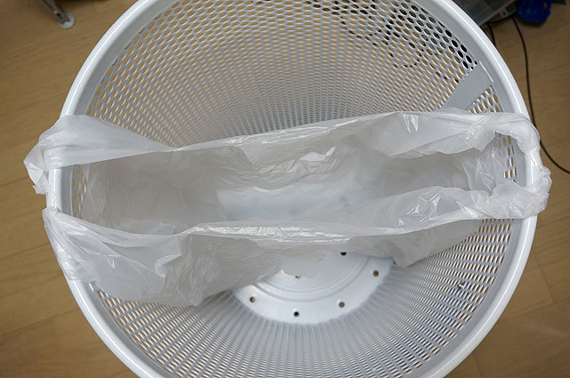 家で常用している45リットルのゴミ袋。こんなにちっぽけに見えたのは初めてだ