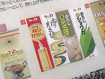 ちなみにカレー粉だけでなく、こちらのチューブ入り香辛料もエスビー食品が日本で初めて販売。最初は洋風ねりからし。1970年より発売開始。